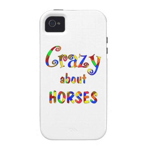 Loco por caballos iPhone 4 carcasa