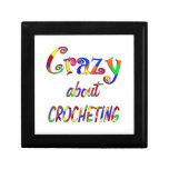 Loco por Crocheting Caja De Joyas