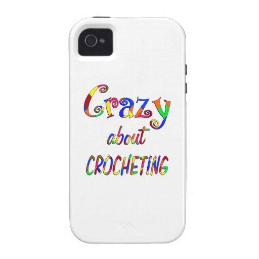 Loco por Crocheting Vibe iPhone 4 Funda