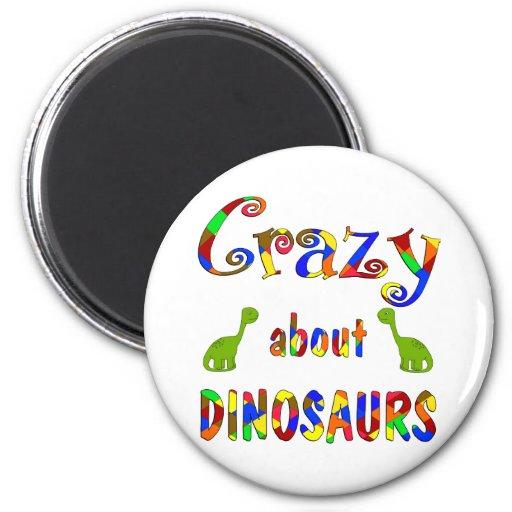 Loco por dinosaurios iman de frigorífico