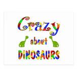 Loco por dinosaurios postal