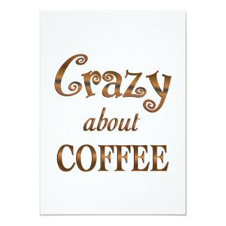 Loco por el café invitación personalizada