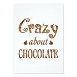 Loco por el chocolate invitaciones personales