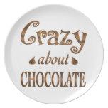 Loco por el chocolate platos para fiestas