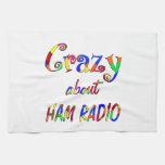 Loco por el equipo de radio-aficionado toalla