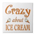 Loco por el helado azulejo cerámica
