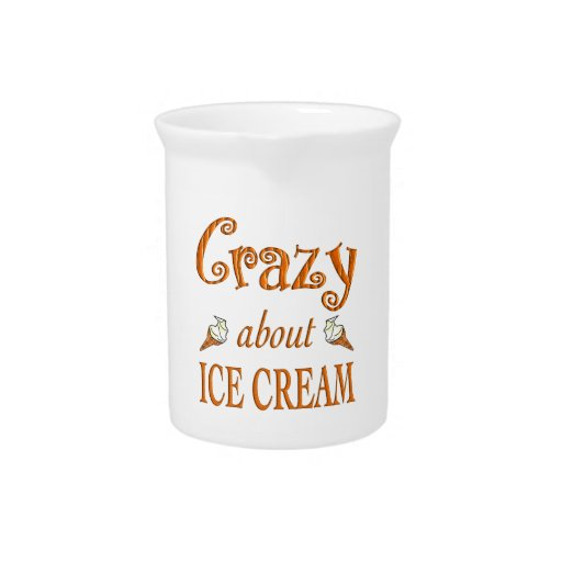 Loco por el helado jarra de beber