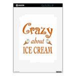 Loco por el helado skin para el iPad 2