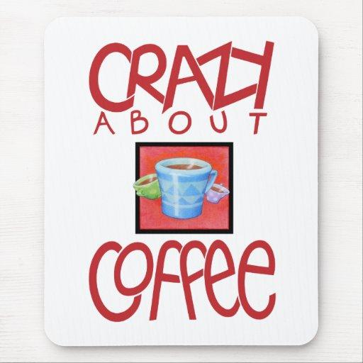 Loco por el rojo Mousepad del café Tapetes De Raton