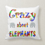 Loco por elefantes almohada