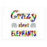 Loco por elefantes postal