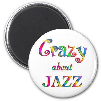 Loco por jazz imanes para frigoríficos