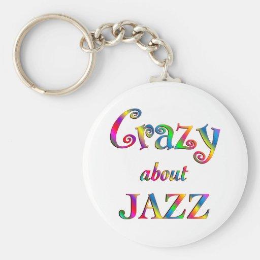 Loco por jazz llaveros personalizados