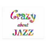 Loco por jazz tarjetas postales