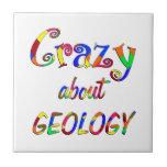 Loco por la geología azulejos
