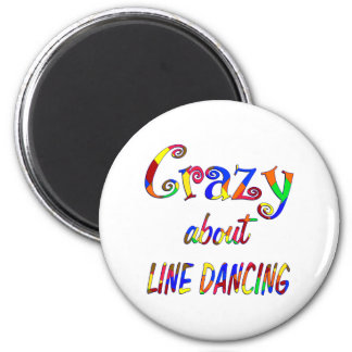 Loco por la línea baile imán redondo 5 cm