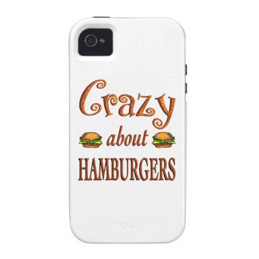 Loco por las hamburguesas iPhone 4/4S carcasa