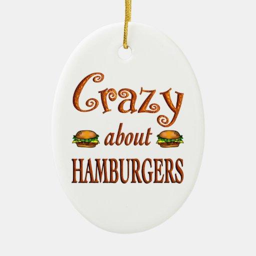Loco por las hamburguesas ornamentos de reyes