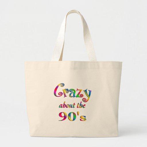 Loco por los años 90 bolsa tela grande