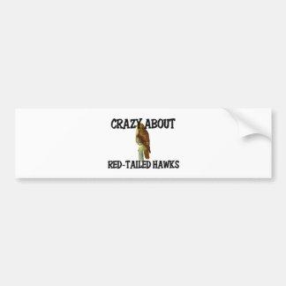 Loco por los halcones Rojo-Atados Pegatina Para Auto