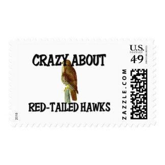 Loco por los halcones Rojo-Atados Franqueo