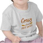 Loco por los perritos calientes camiseta