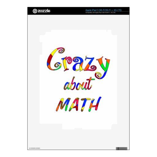 Loco por matemáticas iPad 3 skins