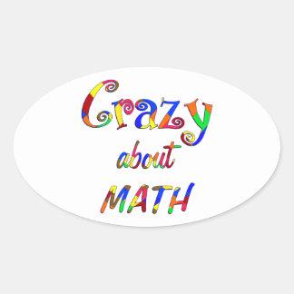 Loco por matemáticas colcomanias de óval