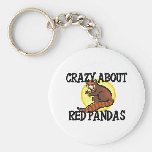 Loco por pandas rojas llaveros