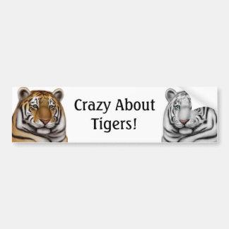 Loco por pegatina para el parachoques de los tigre pegatina de parachoque