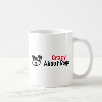 Loco por perros taza de café
