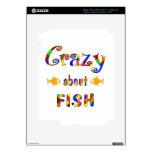 Loco por pescados iPad 3 skin