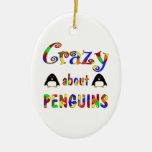 Loco por pingüinos adorno para reyes