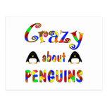 Loco por pingüinos postal