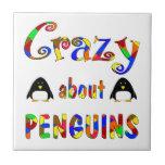 Loco por pingüinos tejas  cerámicas