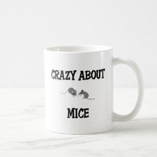 Loco por ratones taza de café