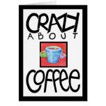 Loco por tarjeta de la frontera del negro del café