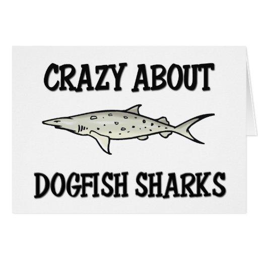 Loco por tiburones de las lijas tarjetas