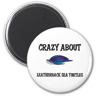 Loco por tortugas de mar del Leatherback Imán De Frigorifico