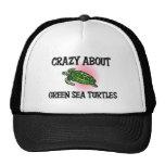 Loco por tortugas de mar verde gorros