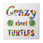 Loco por tortugas teja cerámica