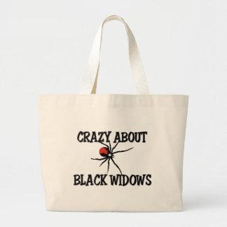 Loco por viudas negras bolsa de mano