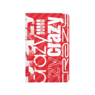 Loco; Rayas del rojo del escarlata Cuadernos