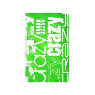Loco; Rayas verdes de neón Cuaderno Grapado