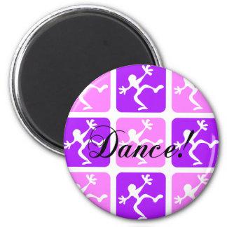 Loco refresque la danza imán redondo 5 cm