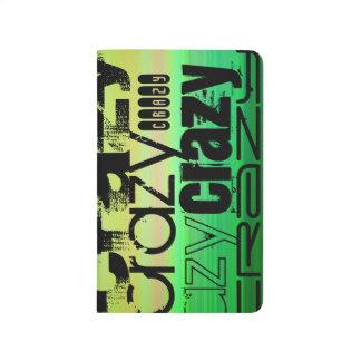 Loco; Verde vibrante, naranja, y amarillo Cuaderno