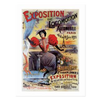 Locomoción de la exposición tarjeta postal