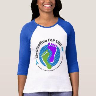 Locomoción para Lila Camisetas