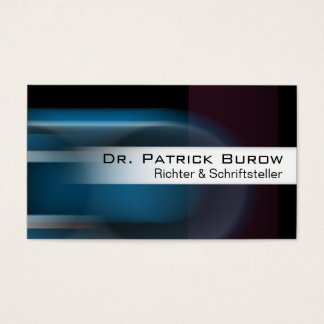 Locomotion Business Card template (blue)