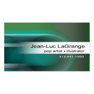 Locomotion Business Card template (teal)